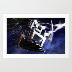 Ride the Lightning Art Print