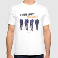Is There a Party Can I Come   Collage Mens Fitted Tee White MEDIUM