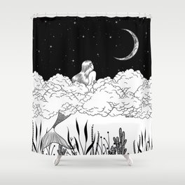 Moon River Shower Curtain
