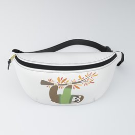 Sweater Weather Sloth Fanny Pack