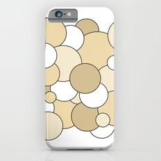 Bubbles - brown and white Slim Case iPhone 6s