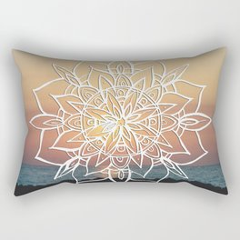 Twilight Mandala Ocean Bliss Dream #3 #sunset #decor #art #society6 Rectangular Pillow