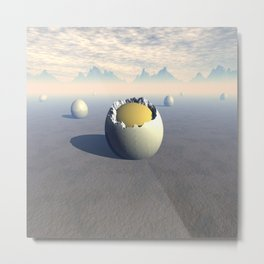 Landscape of Seven Eggs Metal Print