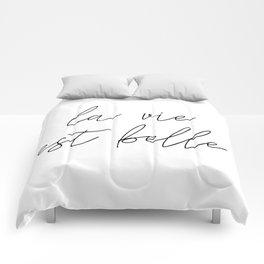 La vie est belle Comforters