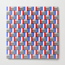 Mix of flag: france and brittany Metal Print