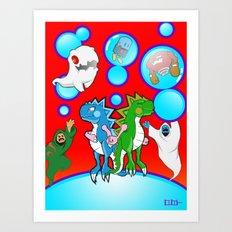 Bubble Bobble Redux Art Print