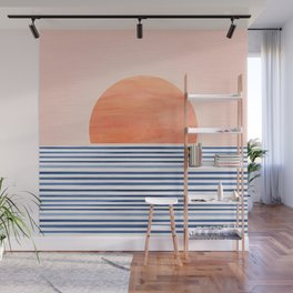 Summer Sunrise - Minimal Abstract Wall Mural