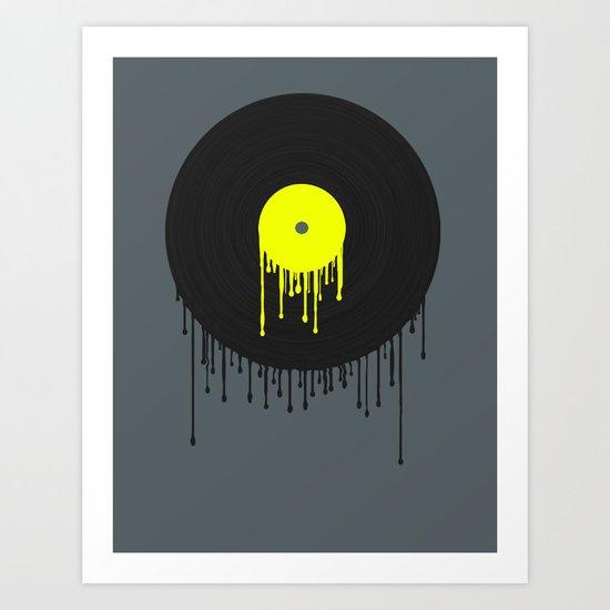 Simply Melting Away. Art Print