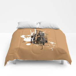 """Four Tet"" Graphic Art Print Comforters"