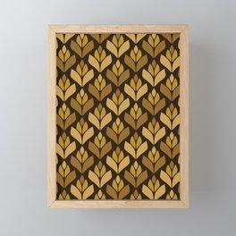 Dark Retro Trefoil Pattern Framed Mini Art Print
