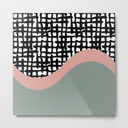 Hand drawn Geometric Line Pattern Metal Print