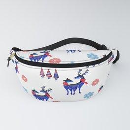 Scandinavian Christmas Reindeer Pattern Fanny Pack