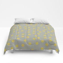 Simply Dots Mod Yellow on Retro Gray Comforters