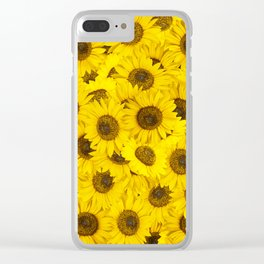 Lots of sunflowers Clear iPhone Case