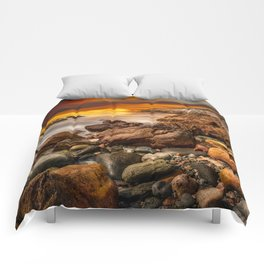 Rhoscolyn Coastline Sunset Comforters