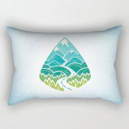 The Road Goes Ever On: Summer Rectangular Pillow