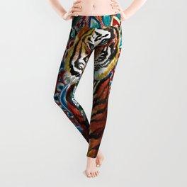 Tiger Watercolor Yoga Mandala Leggings