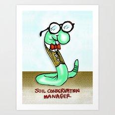 Soil Conservation Manager Art Print
