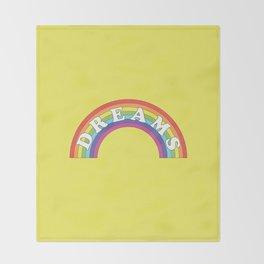 Rainbow Dreams Throw Blanket