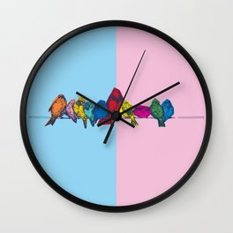 Bird on a Wire Wall Clock