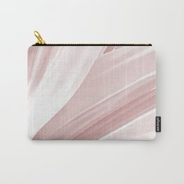 Pink Leaves Movement. nature, soft, decor, art, pink,white, leaves, leaf, society6 Carry-All Pouch