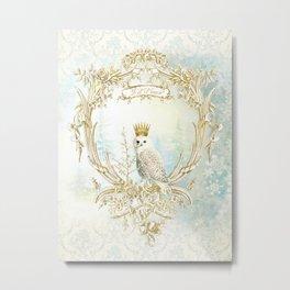 Owl Let it Snow Metal Print