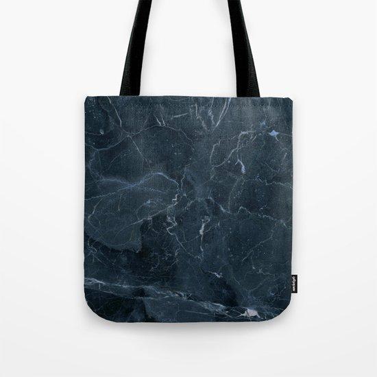 Dark blue marble texture Tote Bag