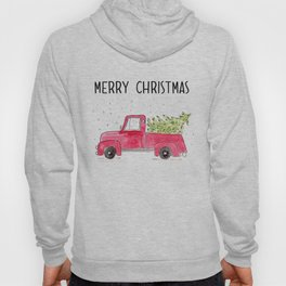 Red Truck with christmas tree Hoody