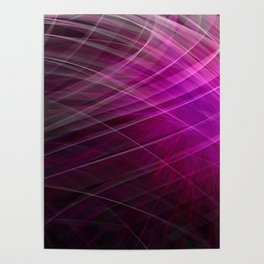 Linear Pattern-Purple Poster