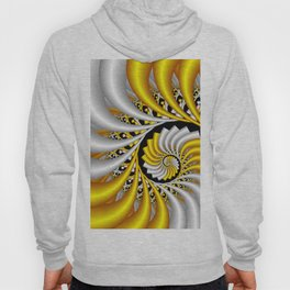 spirals in gold and white Hoody
