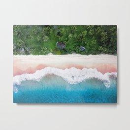 Aerial Tropical Beach Metal Print