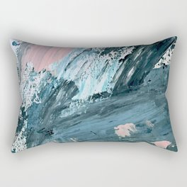 Wilmington: a colorful abstract acrylic piece in pinks and blues Rectangular Pillow