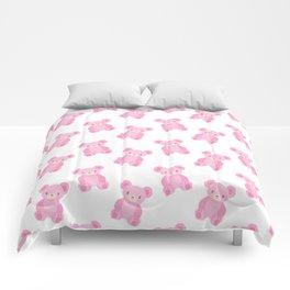 Pink Teddy Bears Comforters