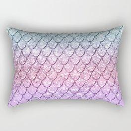 Mermaid Scales on Unicorn Girls Glitter #4 #shiny #pastel #decor #art #society6 Rectangular Pillow