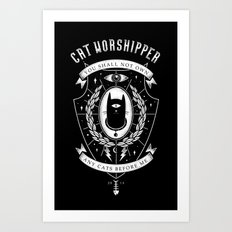 Cat Worshipper Art Print