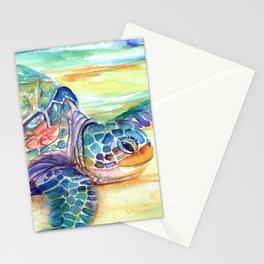 Rainbow Sea Turtle 2 Stationery Cards