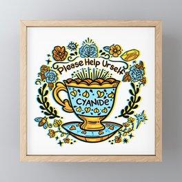 Poison of Choice: Cyanide TeaCup Framed Mini Art Print