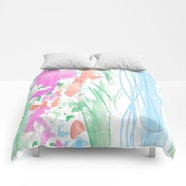 watercolor stripe Comforters