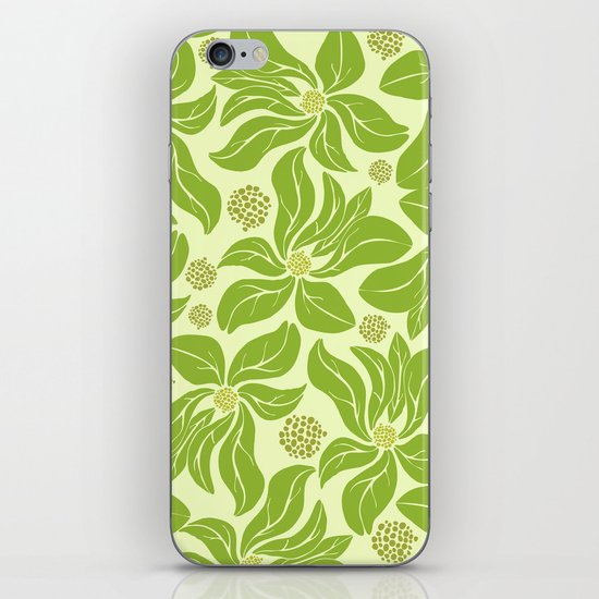 leafy pattern II iPhone & iPod Skin