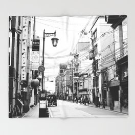 The Streets of Gion, Kyoto Throw Blanket