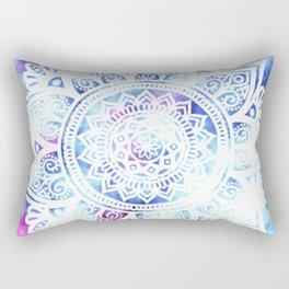 Purple and Blue Tied-Dye Mandala - LaurensColour Rectangular Pillow