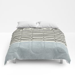 Silver x Stripes Comforters