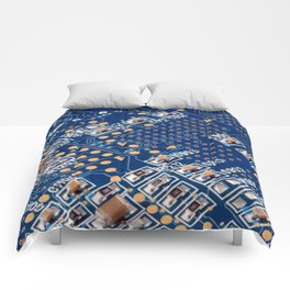 Blue Panel Comforters
