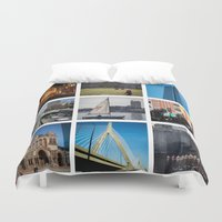boston Duvet Covers featuring Boston by Jill Deering