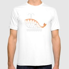 Legal Whale-Sushi Mens Fitted Tee White MEDIUM