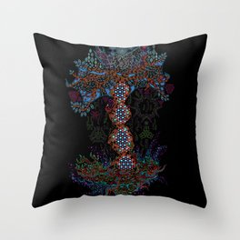 Psychedelic Yggdrasil World Tree of Life Throw Pillow