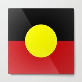 Flag of the australian Aboriginal Metal Print