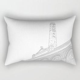 London Truman Chimney - Line Art Rectangular Pillow