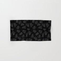 Squids (Grey on Black) Hand & Bath Towel