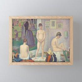 Georges Seurat - Models Framed Mini Art Print